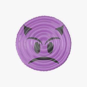 3D Devil Emoji Pool Float model