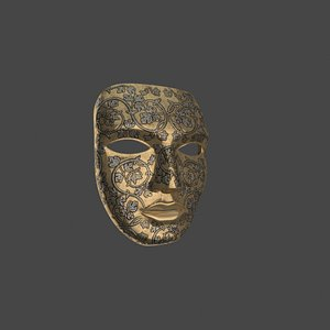 golden mask 3D