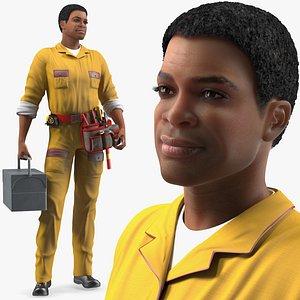 light skin black locksmith 3D model