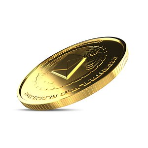 3D ethereum coin crypto model