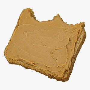 toast peanut butter 02 3D model