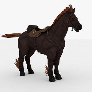3D Fire Horse Rigged