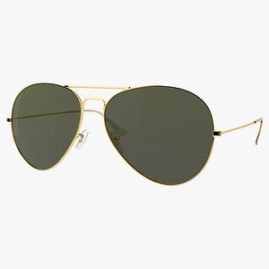 3D Aviator Glasses model
