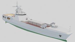 21810 Medium landing ship 3D