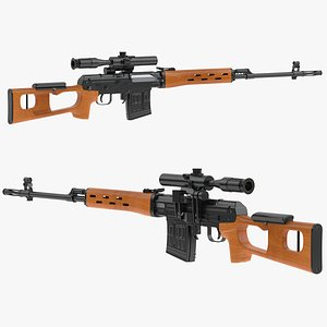 Dragunov Sniper Rifle 3D