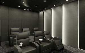 3D room home theater corona design
