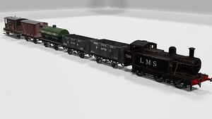 Train set 3D model