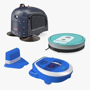 3D Robotic Vacuum Cleaners Collection 2