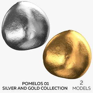 Pomelos 01 Silver and Gold Collection - 2 models 3D model
