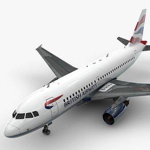 3D model Airbus A319-100 BRITISH Airways L1371