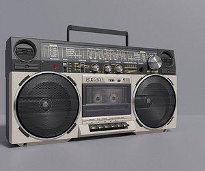 3D vintage 80s model