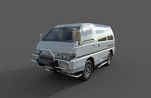 car - mitsubishi delica 3D model