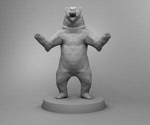 bear animal nature 3D model