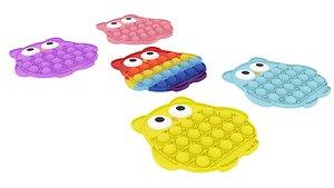 Owl Pop It Fidget Toys Set 3D