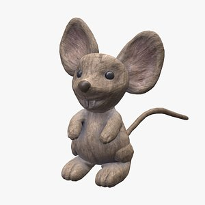 mouse toy wooden model