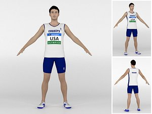 3D Athlete Runner 04