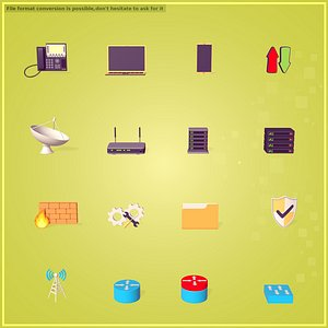 Network Icons Pack 3D