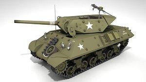 3D Tank Destroyer M10 Wolverine