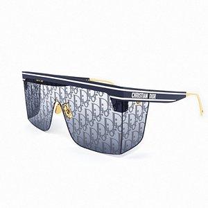 Dior Club M1U Sunglasses 3D