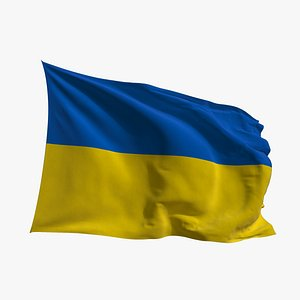 Realistic Animated Flag - Microtexture Rigged - Put your own texture - Def Ukraine 3D model