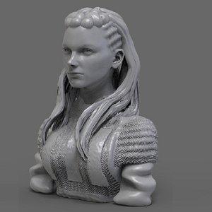 lagertha bust 3D