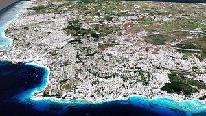 Barbados Island country 3D model