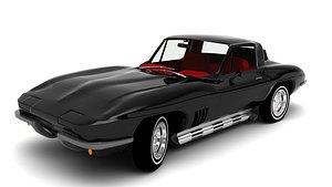 3D 1967 corvette model