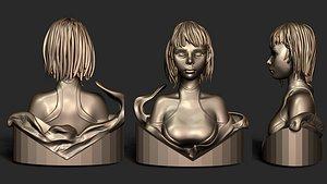 3D Anime Girl Naruto 3D print model model