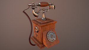 Old vintage phone 3D model