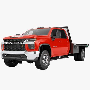 Chevrolet Silverado 3500 HD 2021 Flatbed Dump Truck 05 3D model