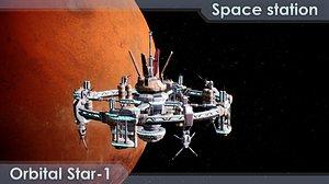 3D Space station Orbital-Star 1 model
