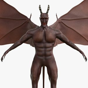 3D Winged Daemon