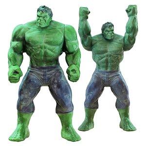 3D Two Hulk toys 2 model