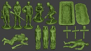 3D soldier ww2 a11 pack