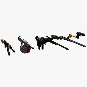 3D Gun Pack model