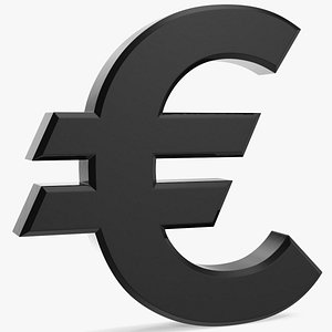 euro sigh plastic eu 3D model