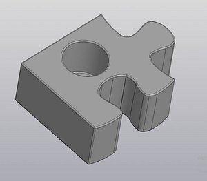 puzzle pieces solved 3D