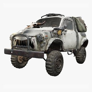 post car apocalyptic 3D model