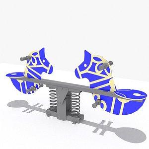 3D Horse Seesaw model