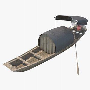 sampan junk junkboat model
