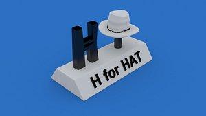3D h hat model