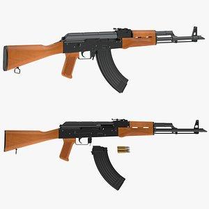 akm assault rifle ak 3D model