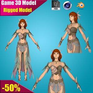3D wonder costume woman model