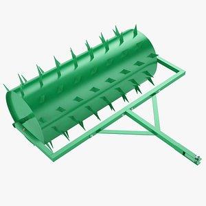 Lawn Spike Roller 02 3D model