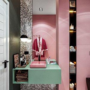 bathroom interior scene 3D model