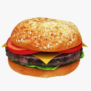 hamburger burger model