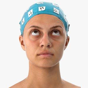 3D model penelope human head eyes