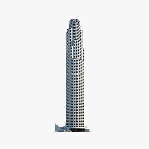 3D bank tower model