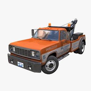 Wrecker tow truck PBR 3D model
