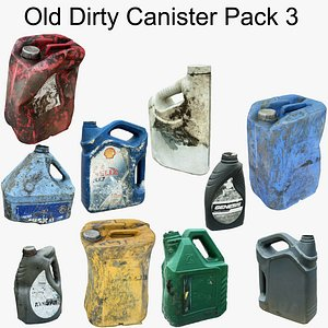 3D Old Dirty Canister Pack3 Scan model